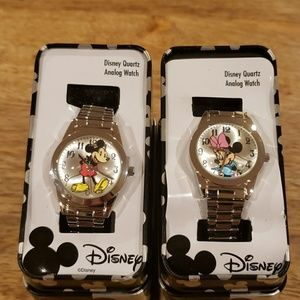 Disney Mickey & Minnie Quartz Analog Watches